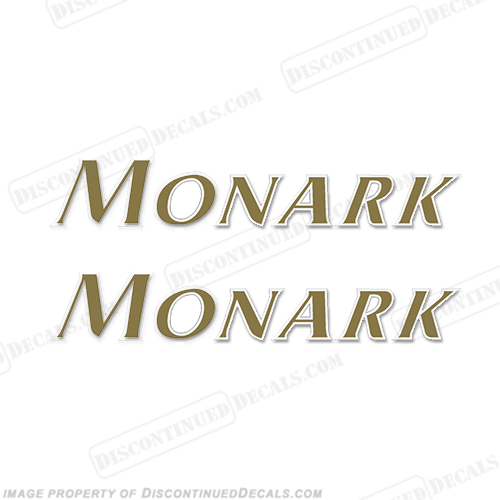 STARCRAFT MONARK BOAT LOGO DECALS (SET OF 2) - 2 COLOR!