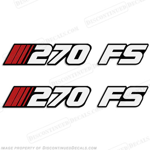Stratos 270 FS (Fish/Ski) Boat Decals (Set of 2)
