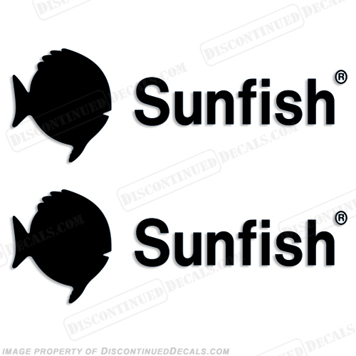 Sunfish Boat Logo Decal - Any Color!