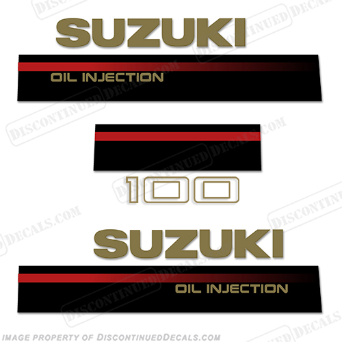 Suzuki 100hp 2-Stroke Decal Kit - 1995 - 1997 2 stroke, two stroke, two-stroke, 1996, 95, 96, 97