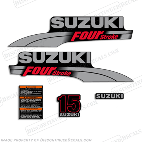 Outboard Engine Graphics Kit Sticker Decal for Honda 9.9 hp Silver