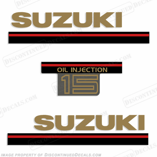 Suzuki 15hp 2-Stroke Decal Kit - 1995 (Fuel Injected)