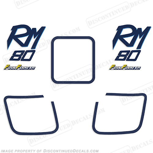 Suzuki RM80 Motorcycle Decal Kit - 1989