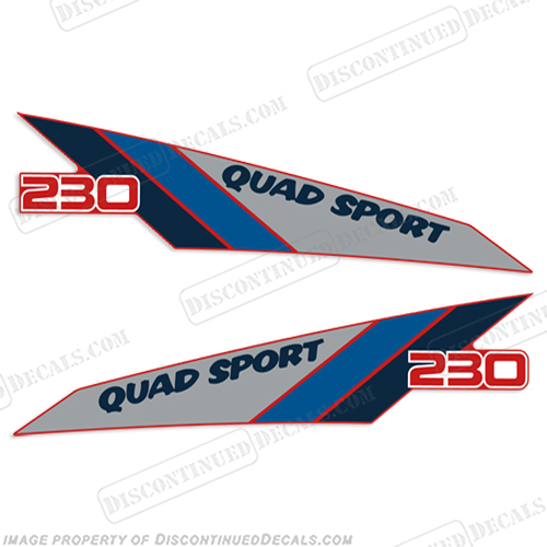 1986 Suzuki 230 Quad Sport ATV Decals