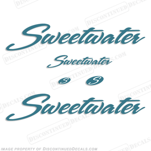 Sweetwater Pontoon Boat Decal Package - Any Color! sweetwater, sweet, water, sweet-water, by godfrey, package