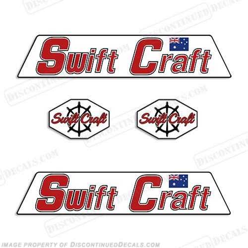 Swift Craft Boat Logo Decals (Set of 2)
