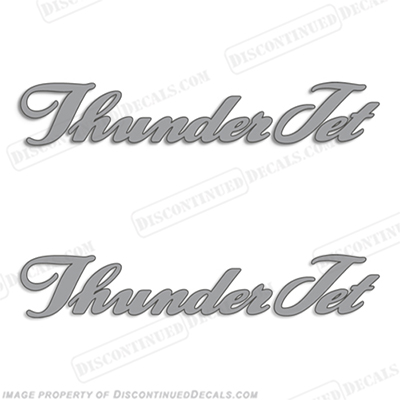 Thunder Jet Boat Decals - Set of 2