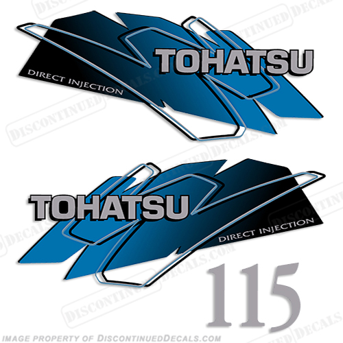 Tohatsu 115hp Decal Kit - Blue