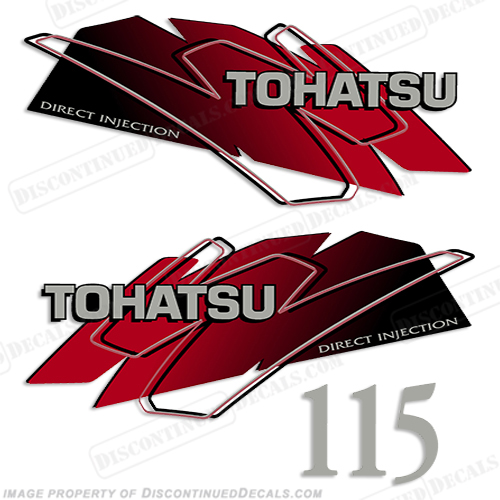 Tohatsu 115hp Decal Kit - Red