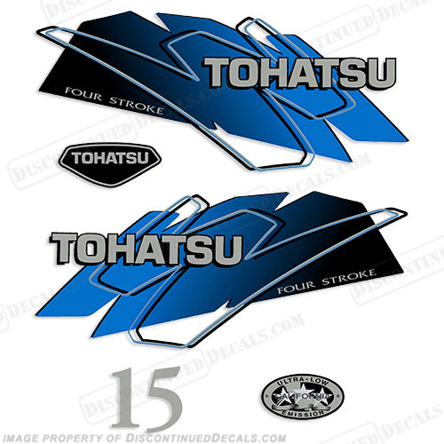 Tohatsu 15hp Decal Kit - Blue