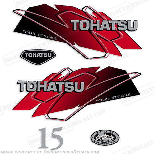 Tohatsu 15hp Decal Kit - Red