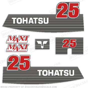 Tohatsu 25hp Maxi Decal Kit