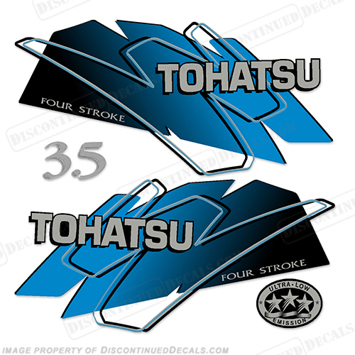 Tohatsu 3.5hp Decal Kit - Blue