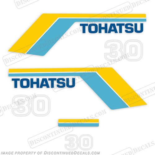 Tohatsu 30hp Outboard Decal Kit - 1985 30, tohatsu, decal, motor, outboard, 1983, 1984, 1985, 1986, 1987, 1988,