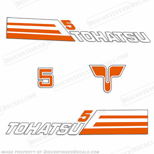 Tohatsu 5hp Decal Kit - 1981