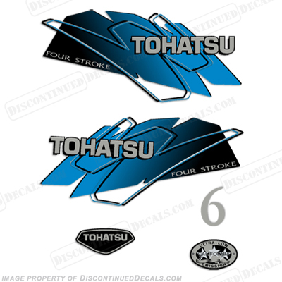 Tohatsu 6hp Decal Kit - Blue