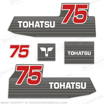 Tohatsu 75hp Decal Kit