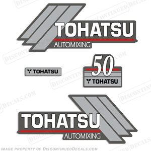 Tohatsu 50hp Automixing Decal Kit