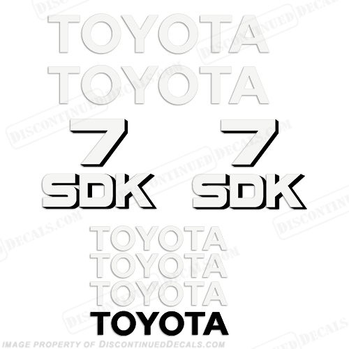Toyota Skid Steer SDK-7 Decal Kit