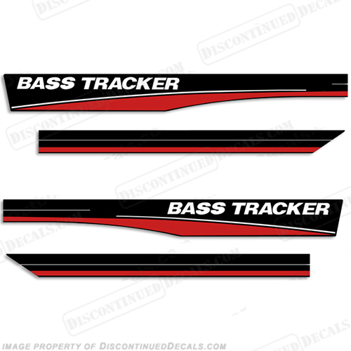Bass Tracker 16 Boat Decals - Red