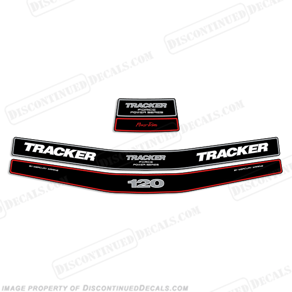 Tracker 120hp Engine Decal kit - Mid 1990s