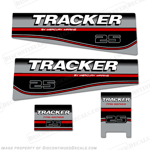 Tracker 25hp Engine Decal kit