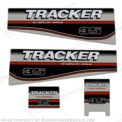 Tracker 35hp Engine Decal kit