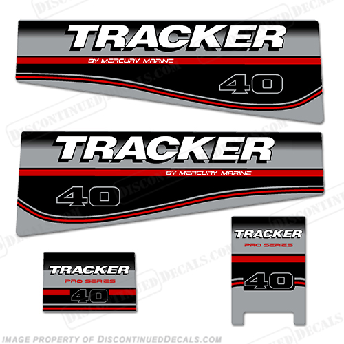 Tracker 40hp Engine Decal kit