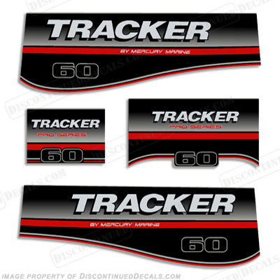 Tracker 60hp Pro Series Engine Decal kit - 2005