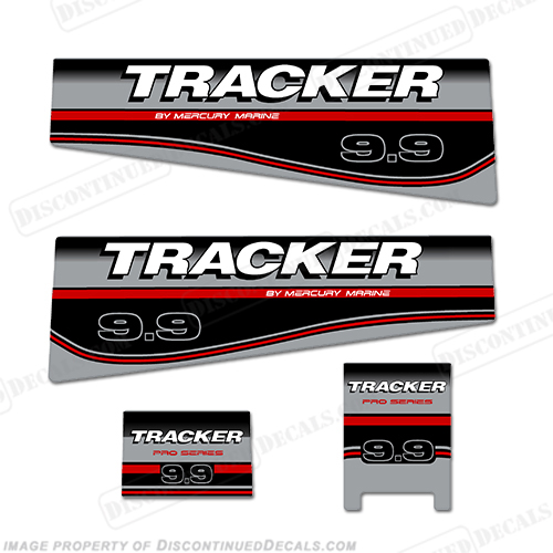 Tracker 9.9hp Engine Decal Kit
