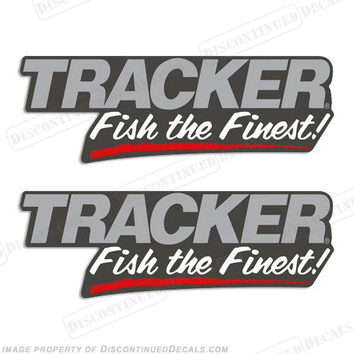 "Tracker Boats ""Fish The Finest"" Decals (set of 2) Fish, the, finest, Bass, tracker, basstracker"