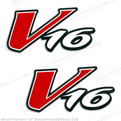 Tracker V16 Boat Logo Decal (Set of 2)