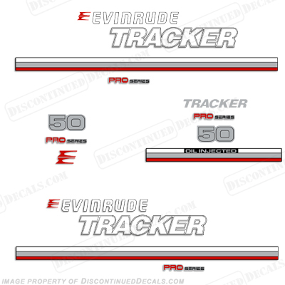 Evinrude 1981 Tracker 50hp Decal Kit - Red