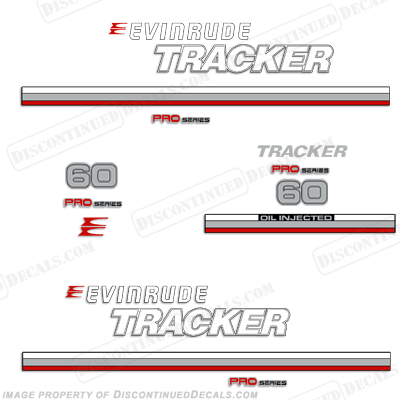 Evinrude 1981 Tracker 60hp Decal Kit - Red