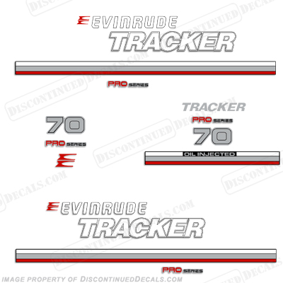 Evinrude 1981 Tracker 70hp Decal Kit - Red