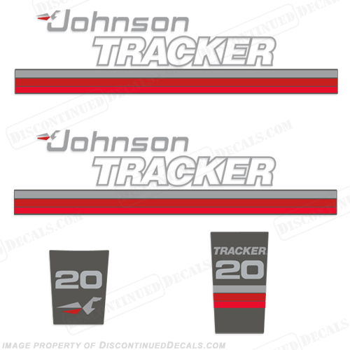 Johnson 1989 Tracker 20hp Decal Kit