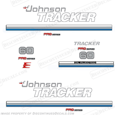 Johnson 1981 Tracker 60hp Decal Kit - Blue