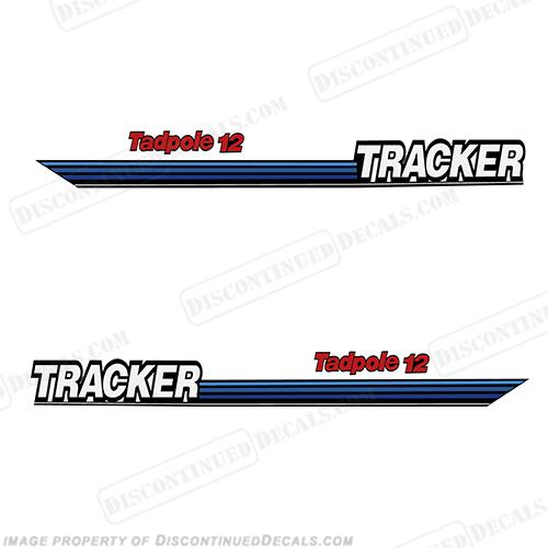 Bass Tracker Tadpole 12 Boat Decals tad pole