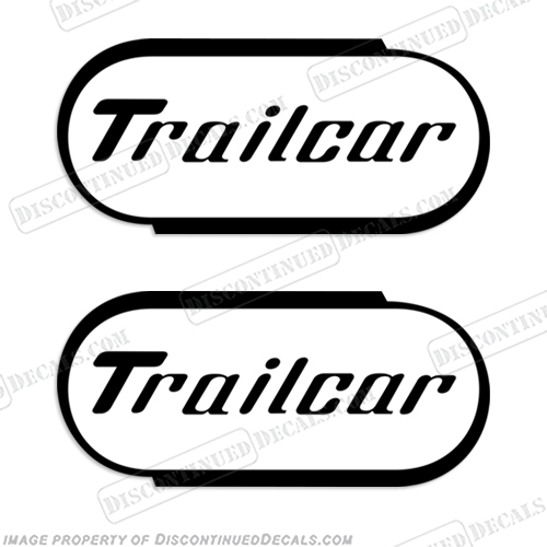 Trailcar Trailer Decals (Set of 2)  T, trailer, car,cratil, trailer, decal, stickers, decal, sticker