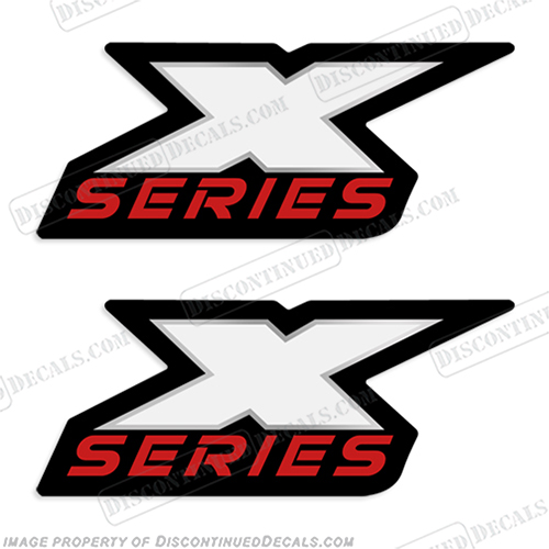 Triton X-Series Boat Logo Decals (Set of 2) x series
