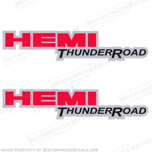 Dodge Ram Hemi ThunderRoad Truck Decals (Set of 2)