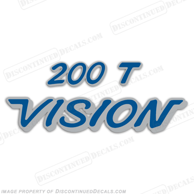 Vision 200T Decals