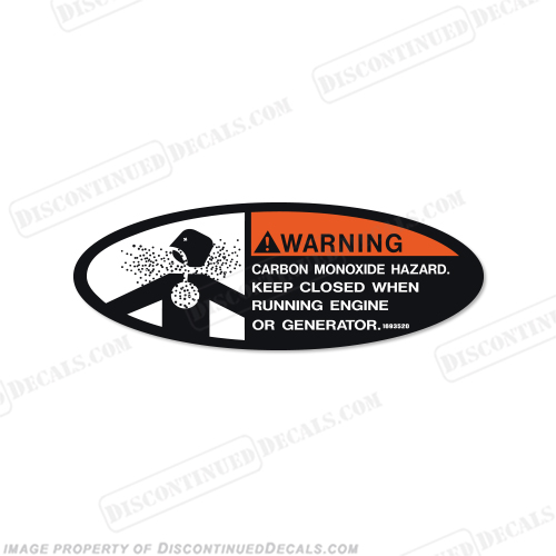 Warning Decal - Carbon Monoxide Hazard