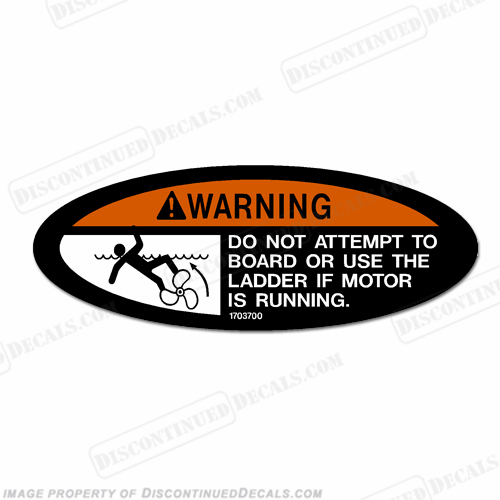 Warning Decal - Do not attempt to board or use ladder...