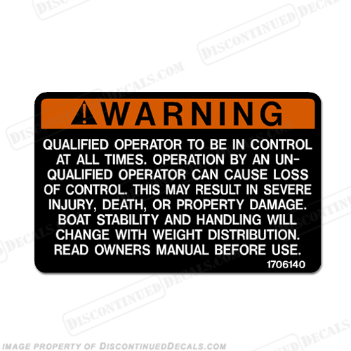 Warning Decal - Qualified Operator...