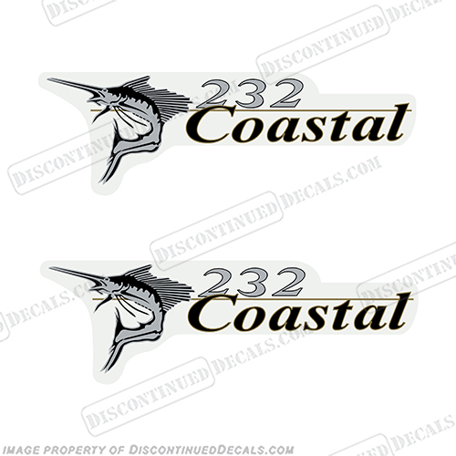Wellcraft Coastal 232 Logo Boat Decals (Set of 2)