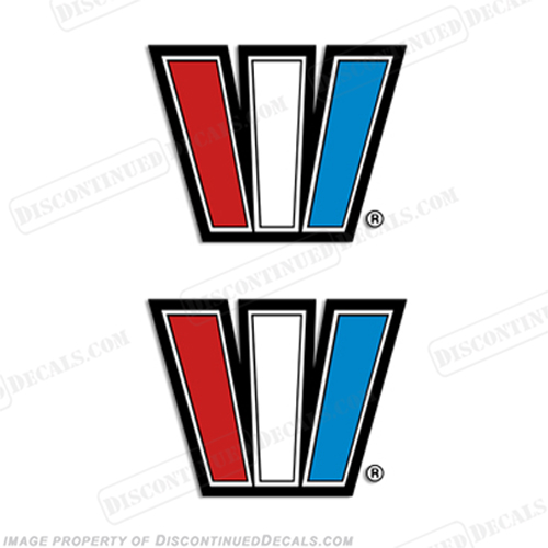 "Wellcraft Boat Decals ""W"" Logo (Set of 2)"
