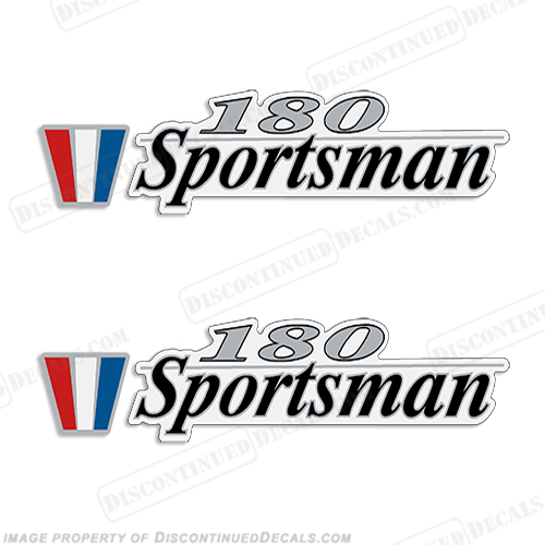 Wellcraft 180 Sportsman Boat Decals (Set of 2)