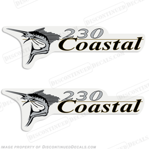 Wellcraft Coastal 230 Logo Boat Decals (Set of 2)