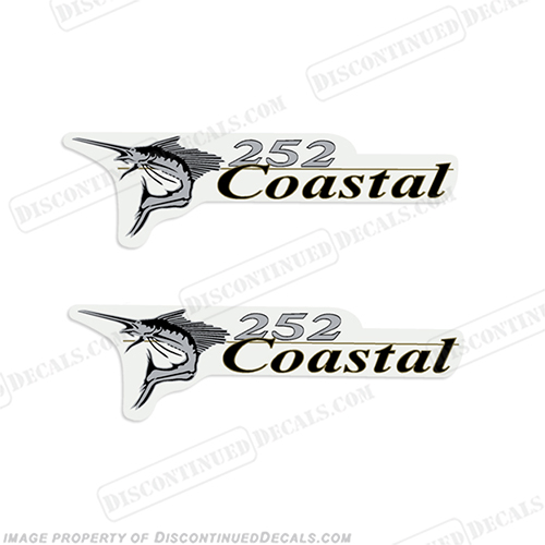Wellcraft Coastal 252 Logo Boat Decals (Set of 2)